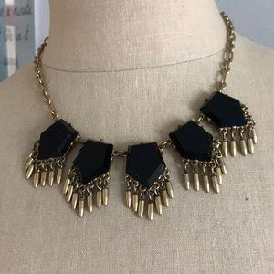 J Crew black statement necklace